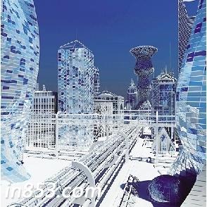这种曾在科幻电影中未来城市出现的多层交通道路网的概念,在近二十年