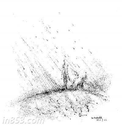 手绘月亮河 图片