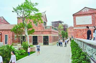 现代简约红砖别墅外观
