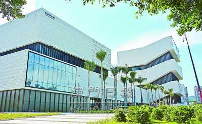 珠海规划展览馆,博物馆的主体工程完工,计划今年国庆节前开放.